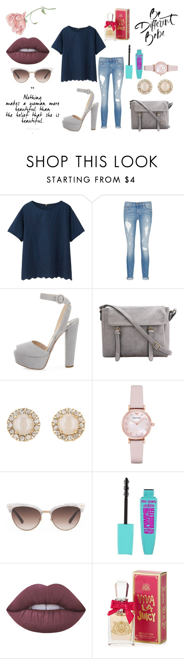 """""""Untitled #103"""" by kora-muffin on Polyvore featuring Uniqlo, rag & bone/JEAN, Prada, Kate Spade, Emporio Armani, Gucci, Lime Crime and Juicy Couture"""