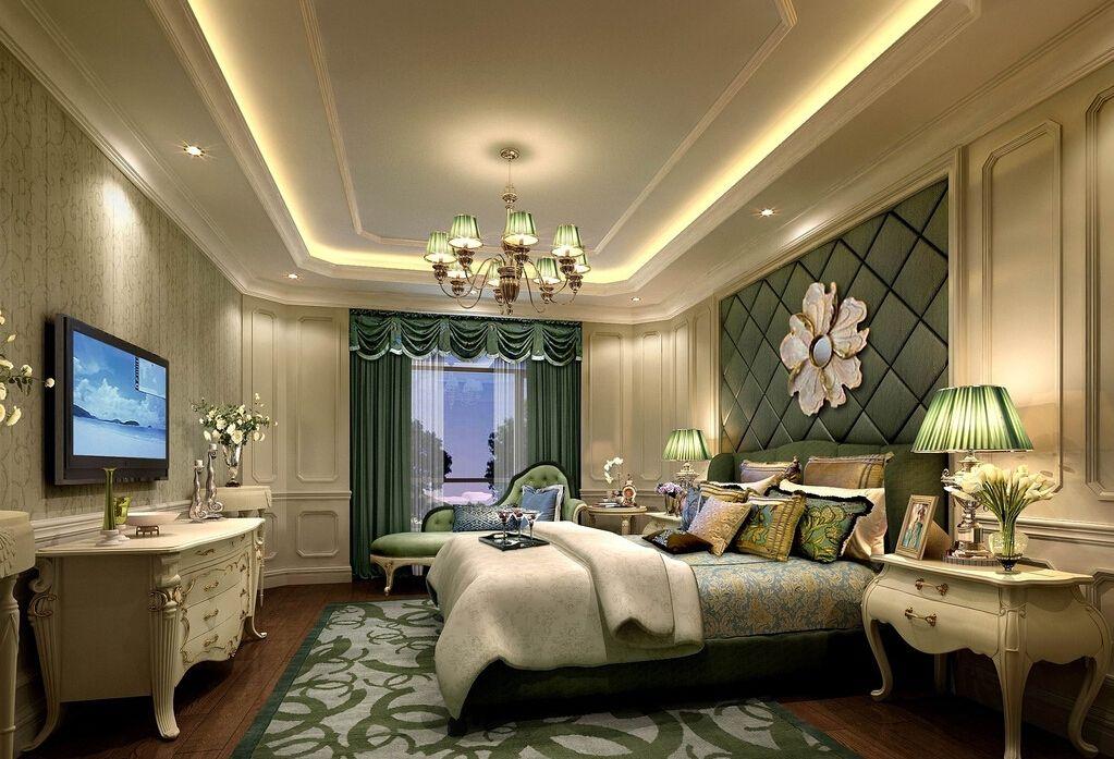 Room 3D design bedroom light greenjpg 1023697 False Ceiling