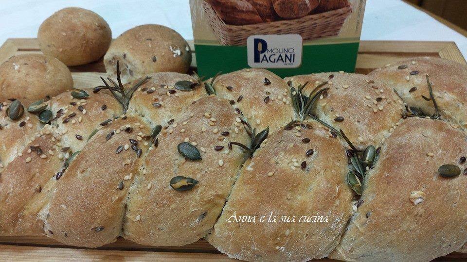 Treccia di pane multicereali