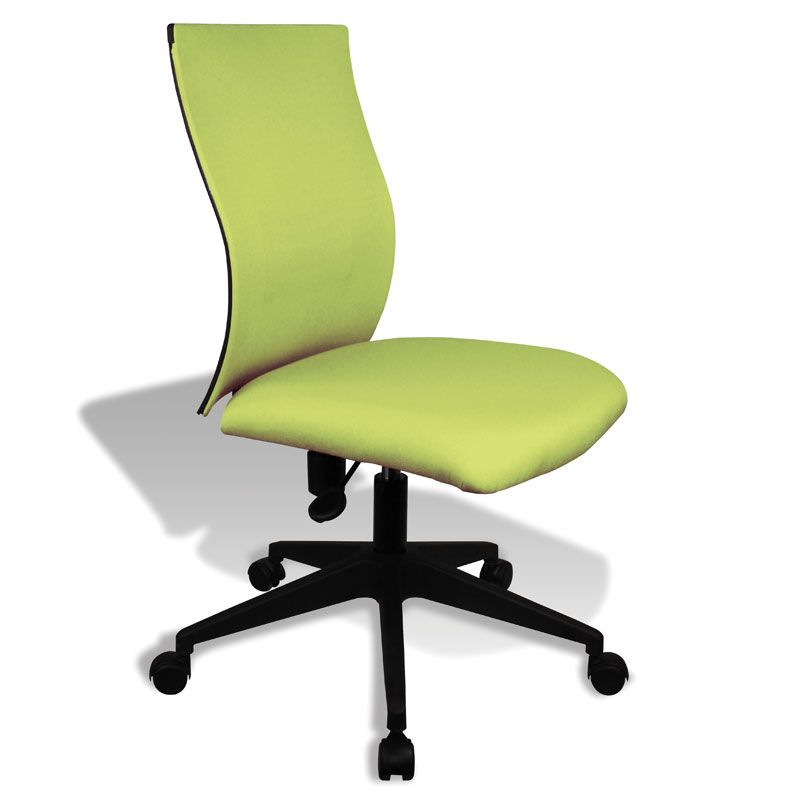 Kaja Armless Office Chair Black Office Chair Design Furniture