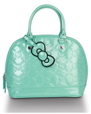 3a0600e258 Loungefly ~ HELLO KITTY MINT PATENT EMBOSSED TOTE BAG