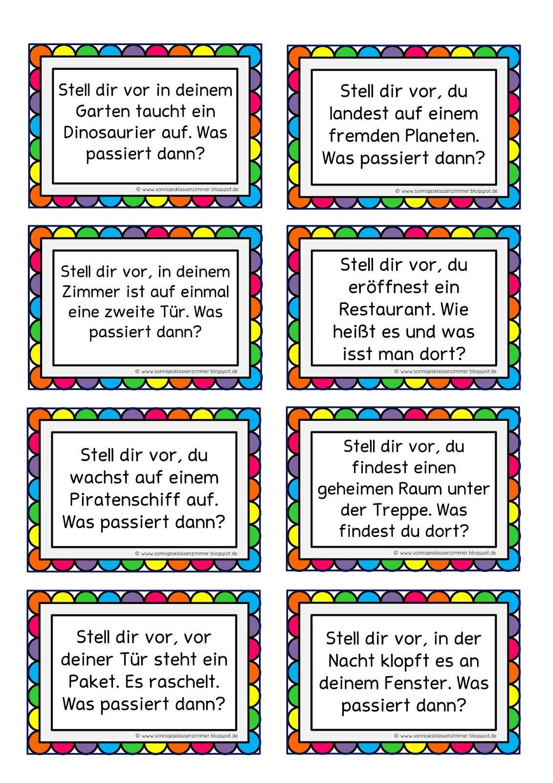 Ideen Furs Freie Schreiben Schule Deutsch Unterricht Unterrichten