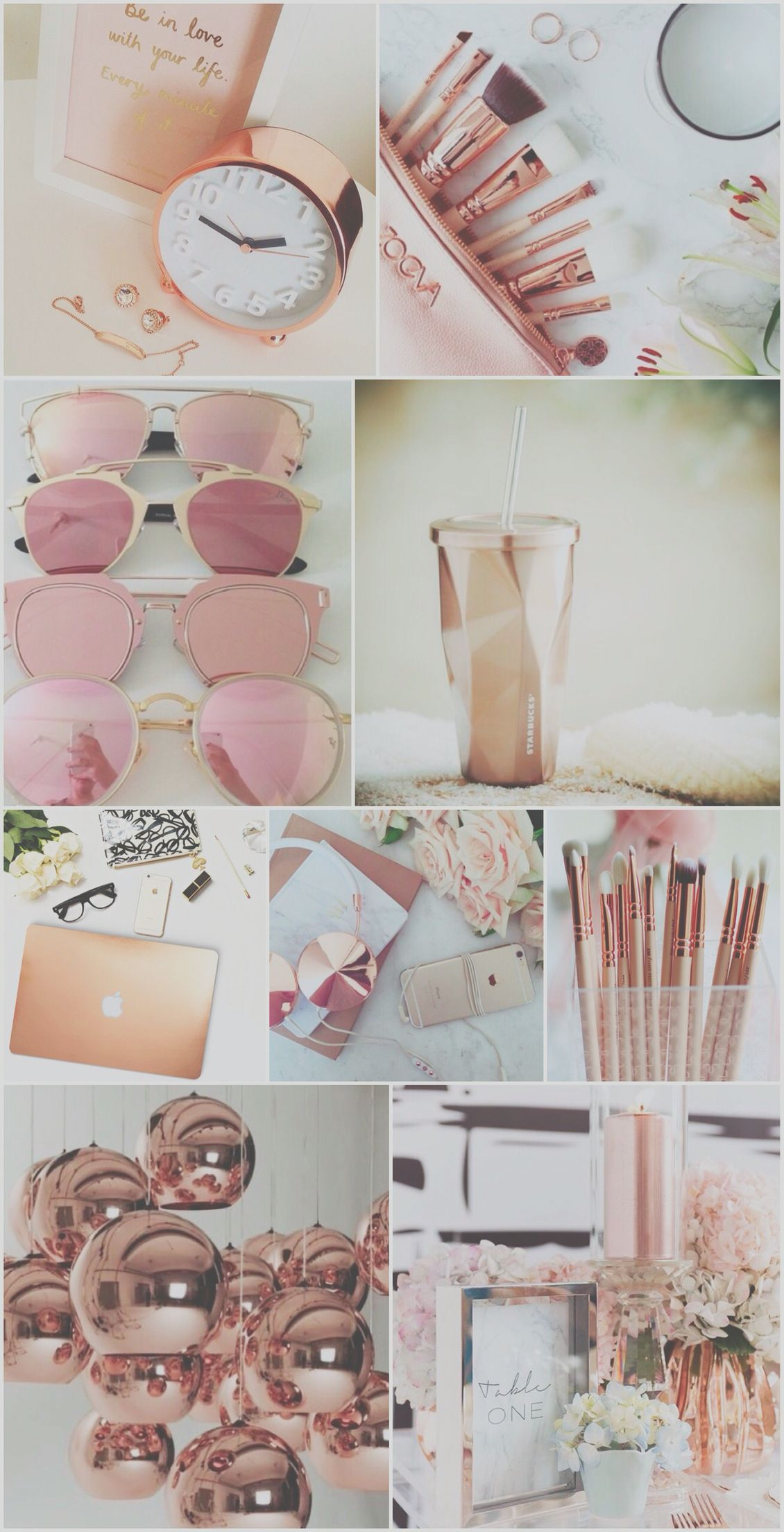 Rose Gold Aesthetic Tmblr Background Imgurl