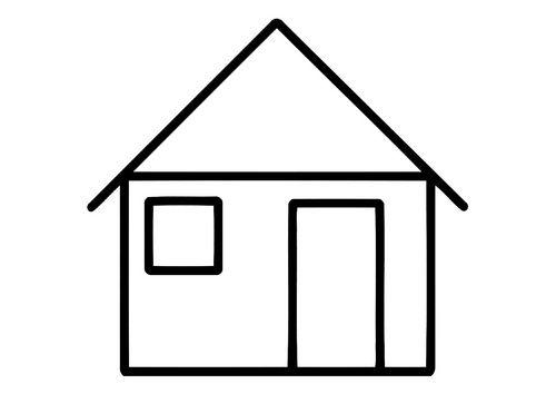 Kleurplaat Huis Kinderen Kleurplaten Huis Tekenen En