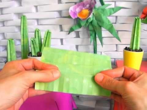 Traditional Origami Three Petal Iris Flower Tutorial - YouTube | 360x480