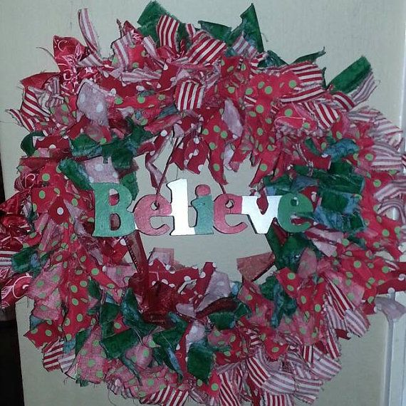 Christmas Wreath Fabric Wreath Wearth Holiday by JazzyTrends