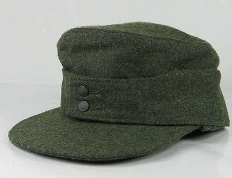 bcecec6846d03a German WW II field gray M43 patrol Mountain Cap, close to original Large  60cm | eBay