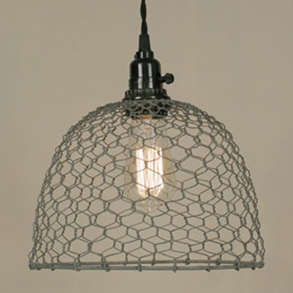 New Chicken Wire Dome Pendant Lamp Ceiling Light Country Farmhouse ...