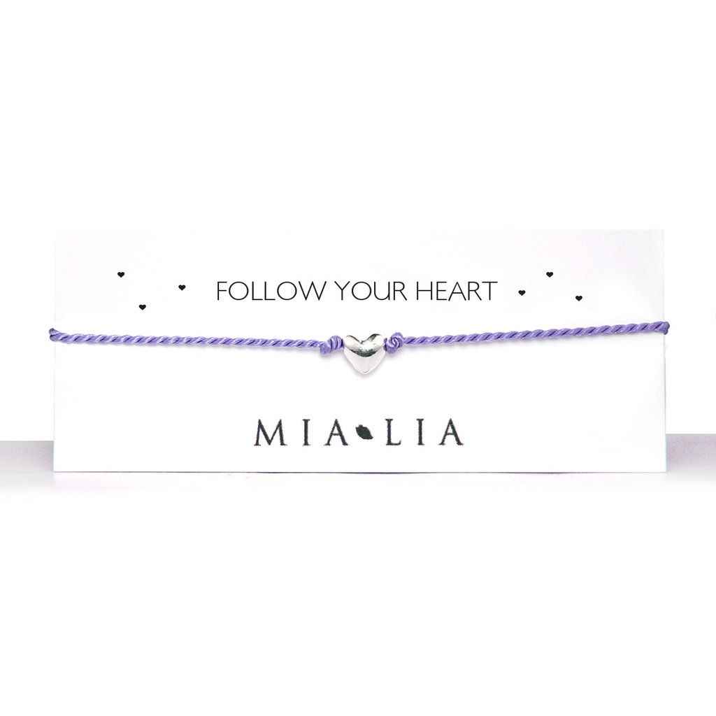 Mia Lia follow your heart bracelet in lilac