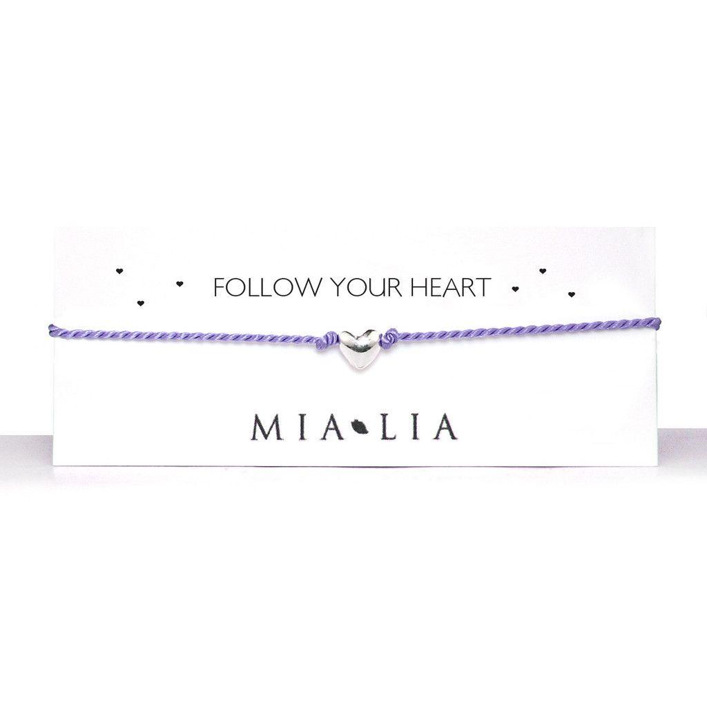 Mia Lia follow your heart bracelet in lilac