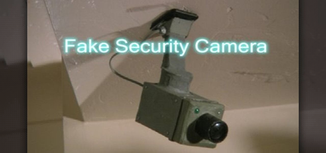 How To Build A Fake Cardboard Security Camera Diy Security Camera Fake Security Cameras Home Security