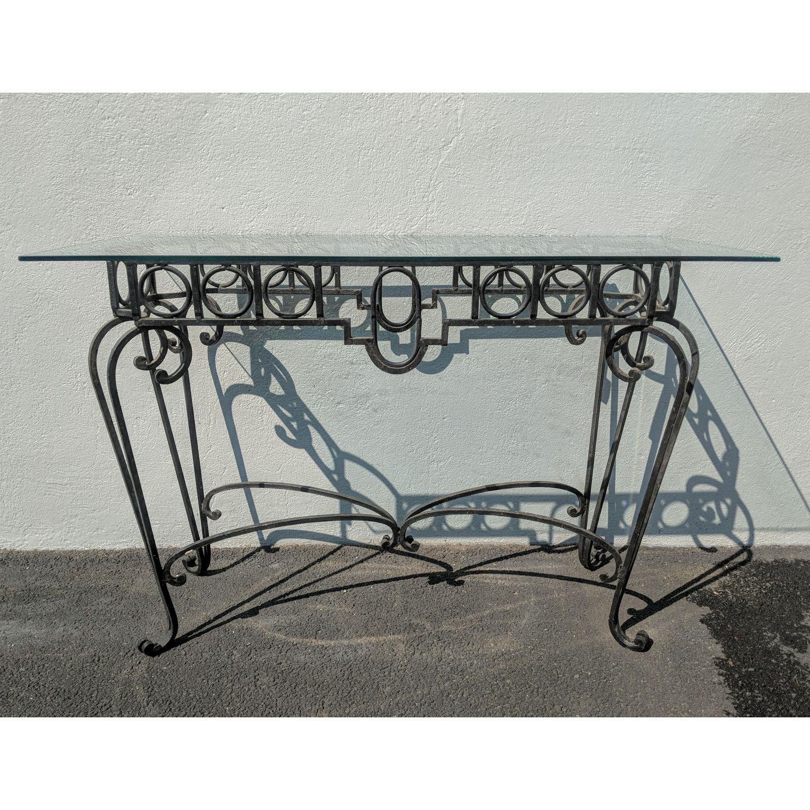 Vintage Wrought Iron Console Table Wrought Iron Console Table Iron Console Table Vintage Furniture