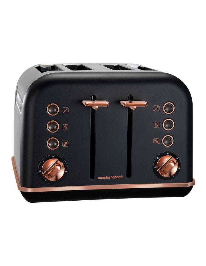 Accents 4 Slice Toaster Rose Gold Black 242107