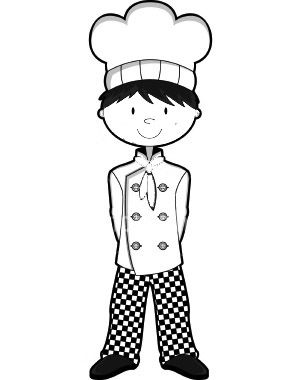 Little Chefs Coloring Pages To Kids Coloring Pages Free