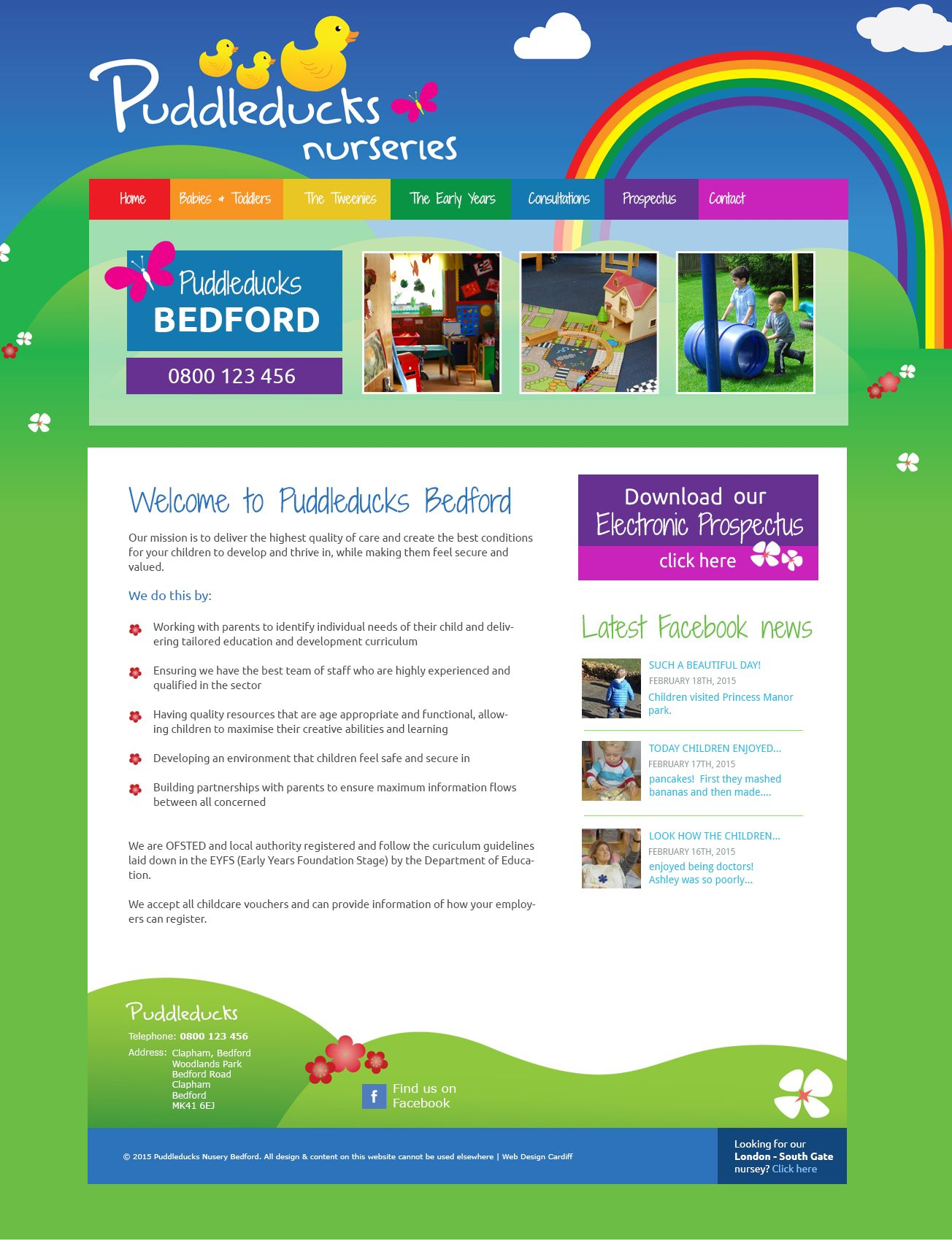 Nursery School Website Design Examples Of Designs Created By South Wales Based Qwerty All Websites Are Custom Designed And Built From
