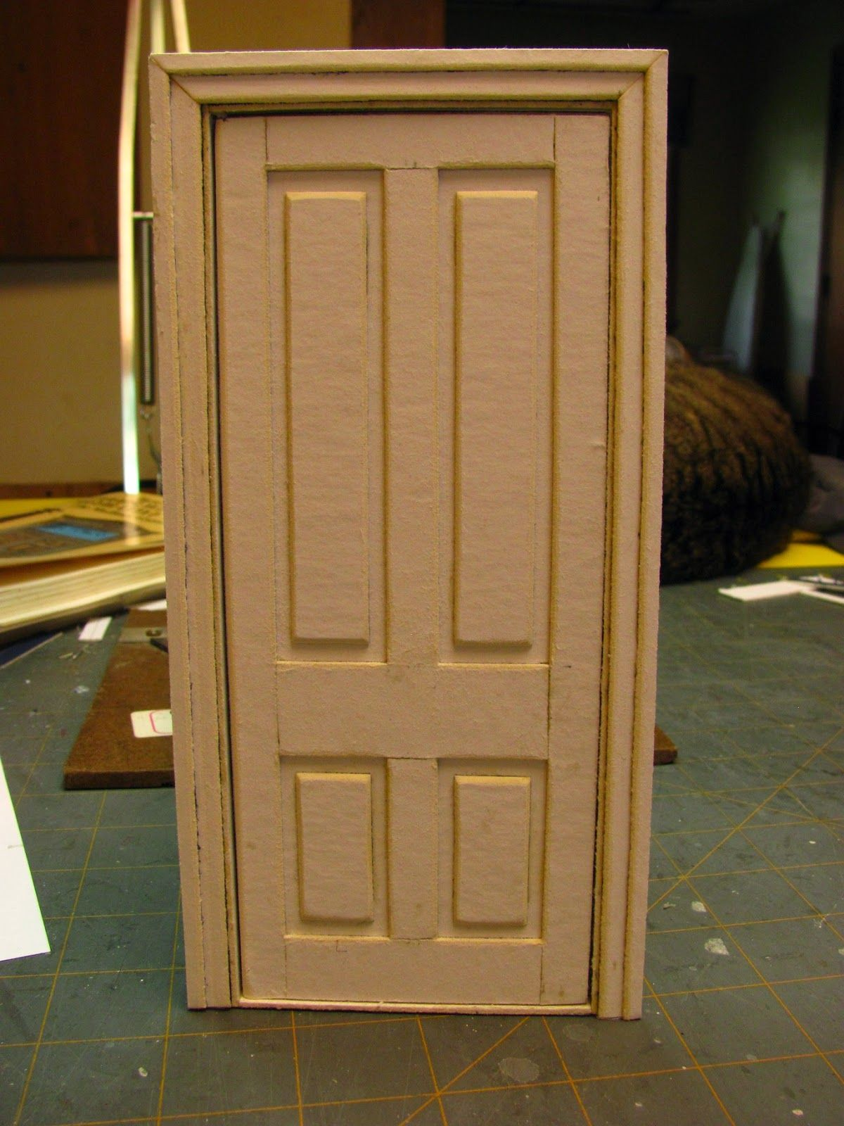 1 INCH SCALE DOLLHOUSE INTERIOR DOOR AND JAMB TUTORIAL - How to make a 1 inch scale dollhouse interior door and jamb from mat board. (Dollhouse Miniature ... & 1 INCH SCALE DOLLHOUSE INTERIOR DOOR AND JAMB TUTORIAL - How to ...