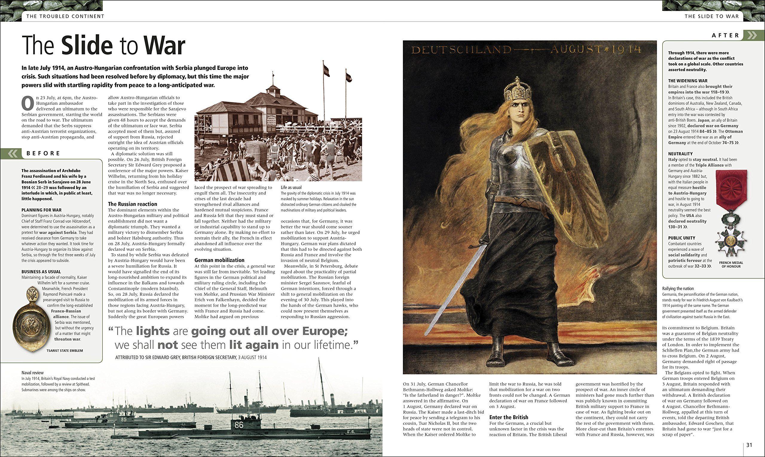 World War I The Definitive Visual History Hardcover April 3