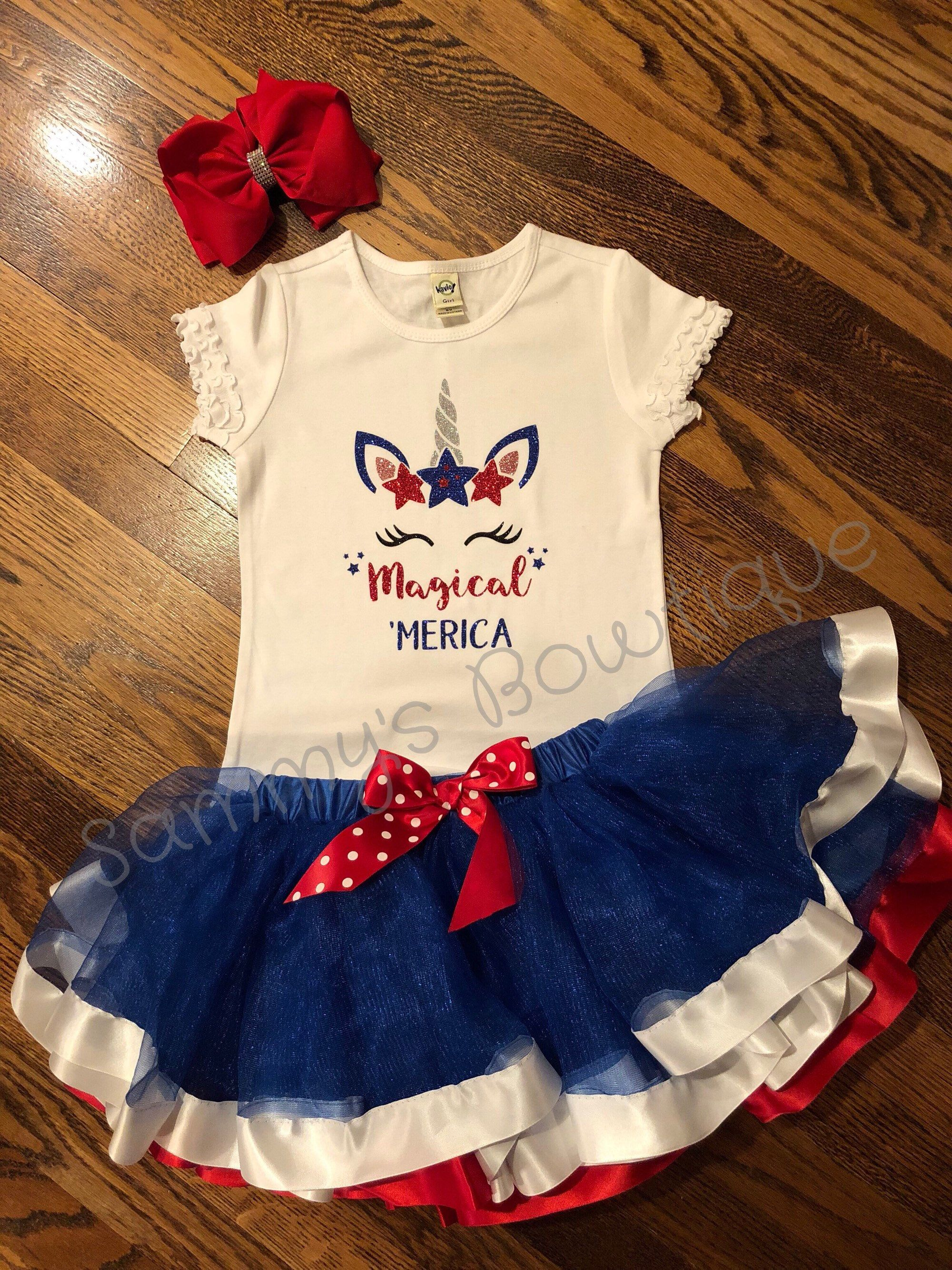 89c37c205835e Excited to share the latest addition to my #etsy shop: Magical 'Merica girls  shirt, unicorn 4th of July shirt, girls unicorn 4th of july shirt, ...