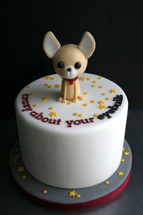 Peachy Chihuahua Figurine By Sugarplum Cake Shop Puppy Birthday Cakes Funny Birthday Cards Online Unhofree Goldxyz