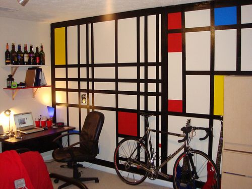 Mondrian Arredamento ~ Mondrian wall art room office interior design