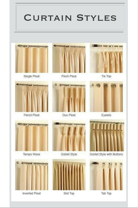 Design Guide Curtains 101 Curtain Styles Curtains Living Room Decor Curtains