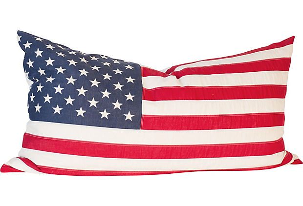 For The Back Bench Seat On The Boat American Flag Pillow Large American Flag American Flag