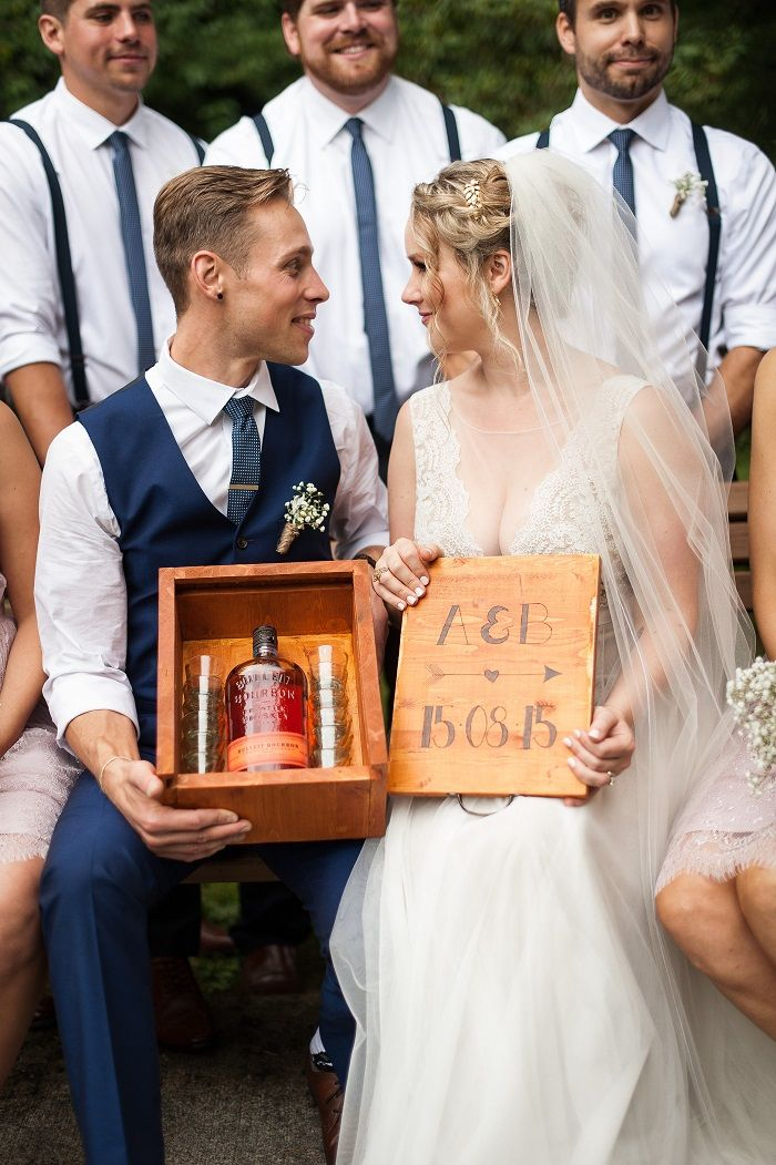 Southern Wedding Tradition : Burying the Bourbon - digging a hole and burying a full bottle of bourbon upside down at the ceremony site | fab mood
