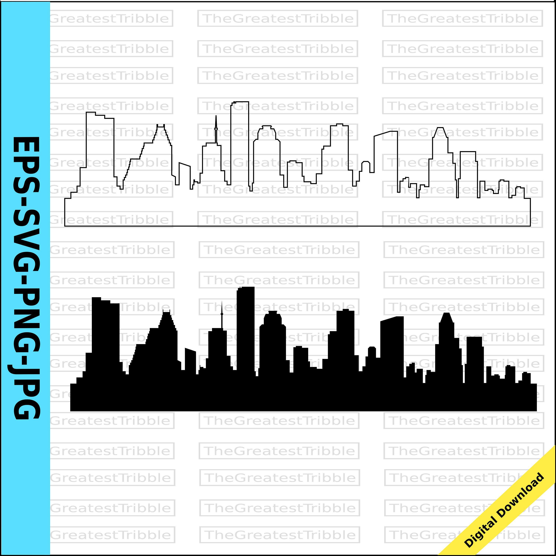 Houston City Skyline Silhouette Houston City Skyline Outline Etsy City Skyline Silhouette Skyline Silhouette Houston Skyline