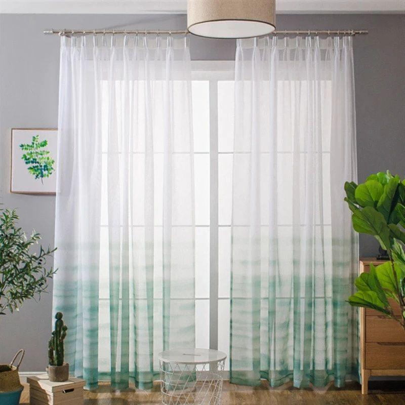 rideau voilage vert amande rideaux