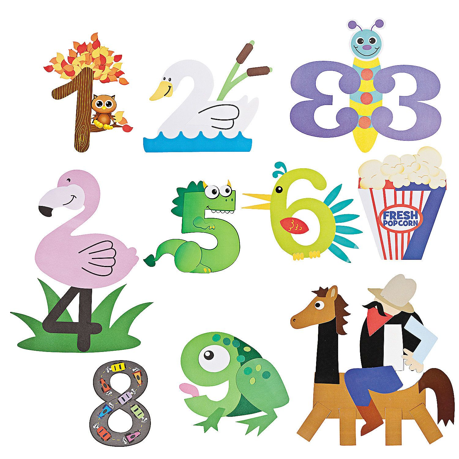 numbers crafts for preschoolers number craft kits orientaltrading early childhood 688