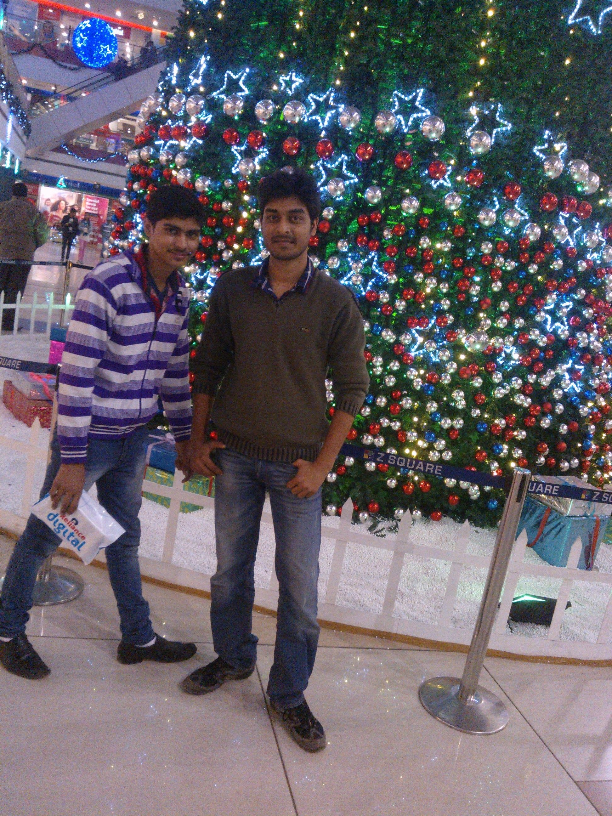 Me And Vivek Bhai At Z Square Mall