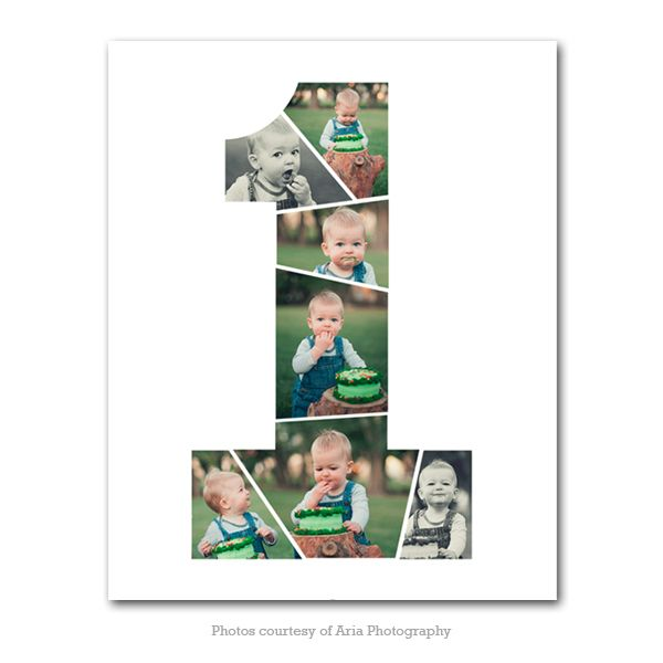 One Years Old First Birthday Collage Birthday Collage Birthday Photo Collage Baby Photo Collages