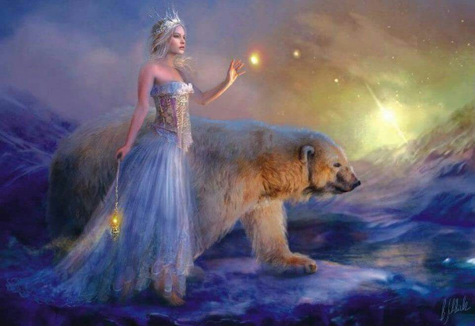 Princess with polar bear