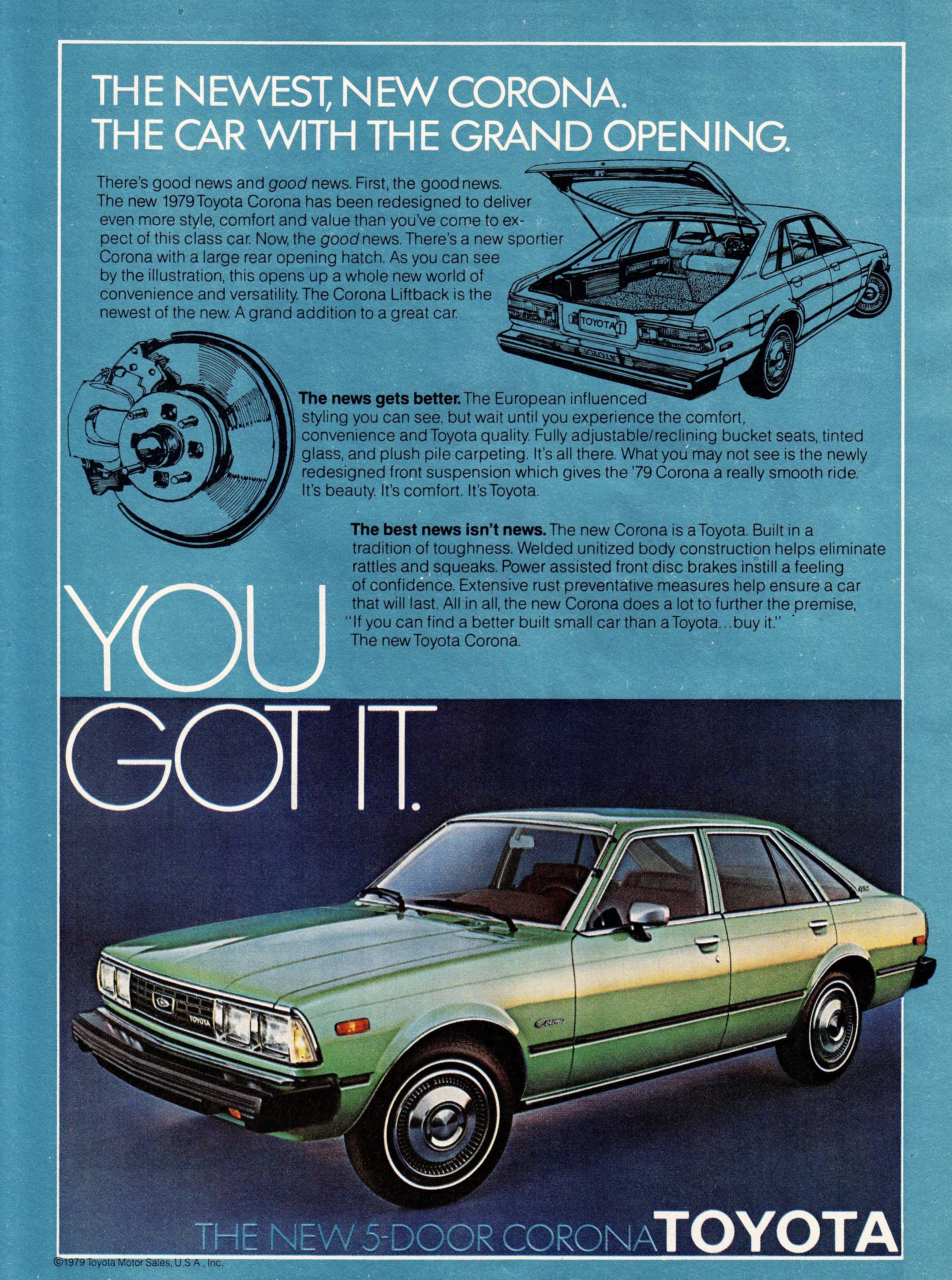 1979 Toyota Corona Toyota Corona Toyota Corona