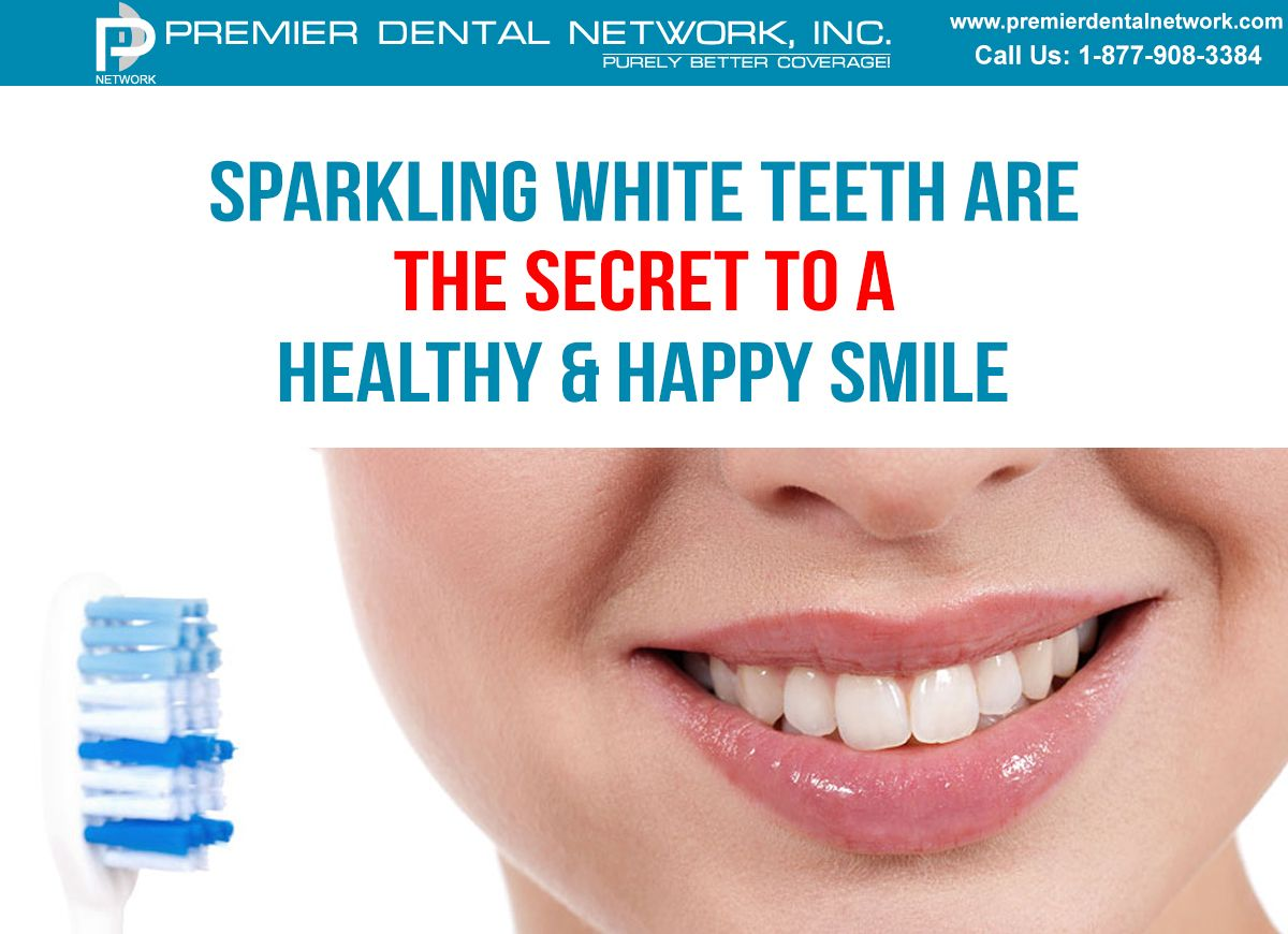 Sparkling white teeth are the secret to a healthy & happy