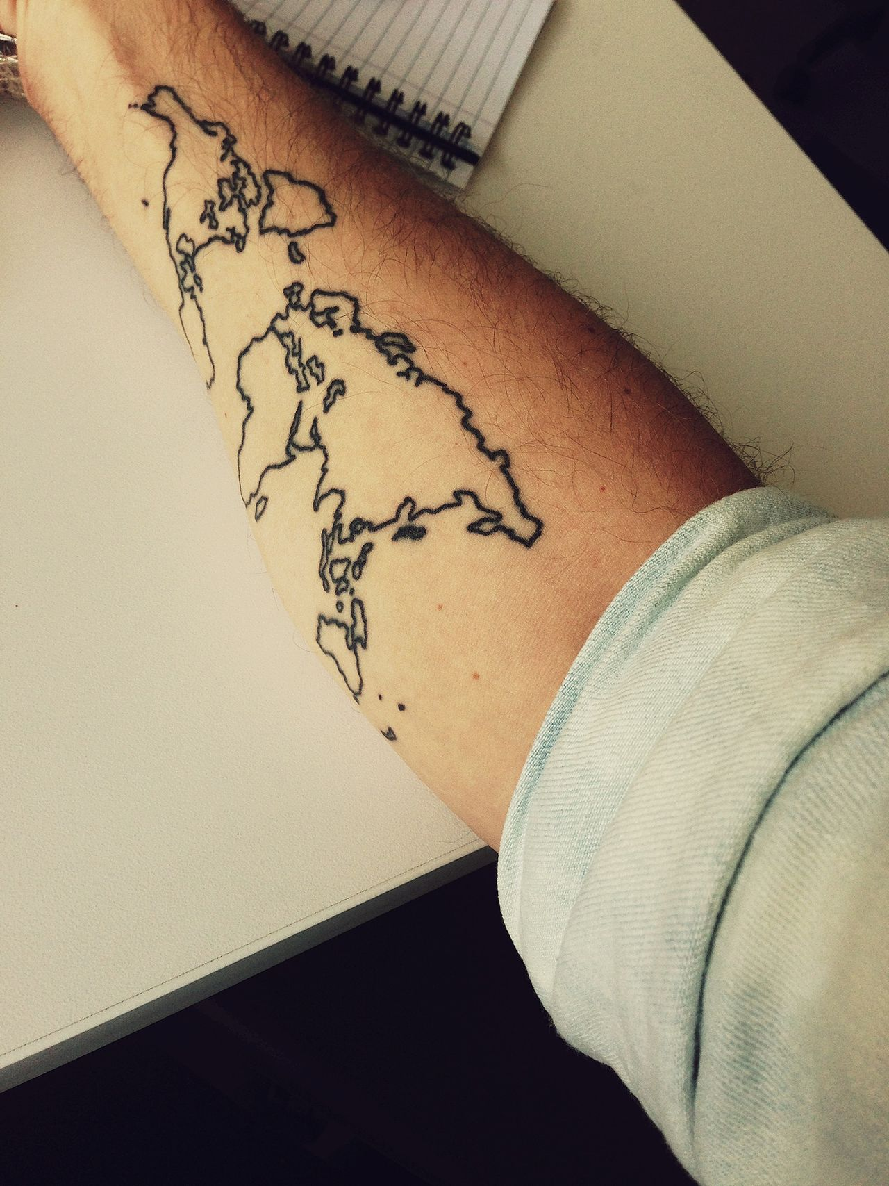 Map tattoo tatouages pinterest tattoo map tattoos and bodies map tattoo gumiabroncs