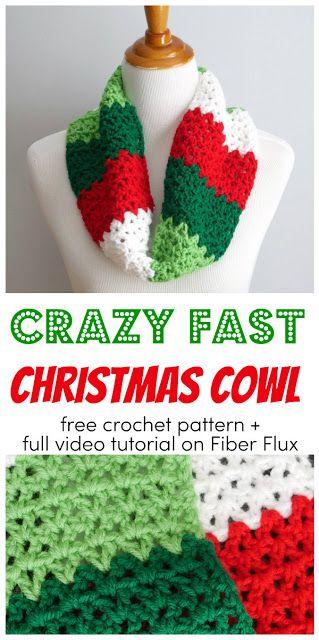 Crazy Fast Christmas Cowl Häkeln Pinterest Häkeln Häkeln