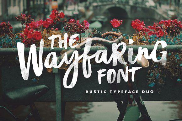 The Wayfaring Font Duo by Sam Parrett on @creativemarket