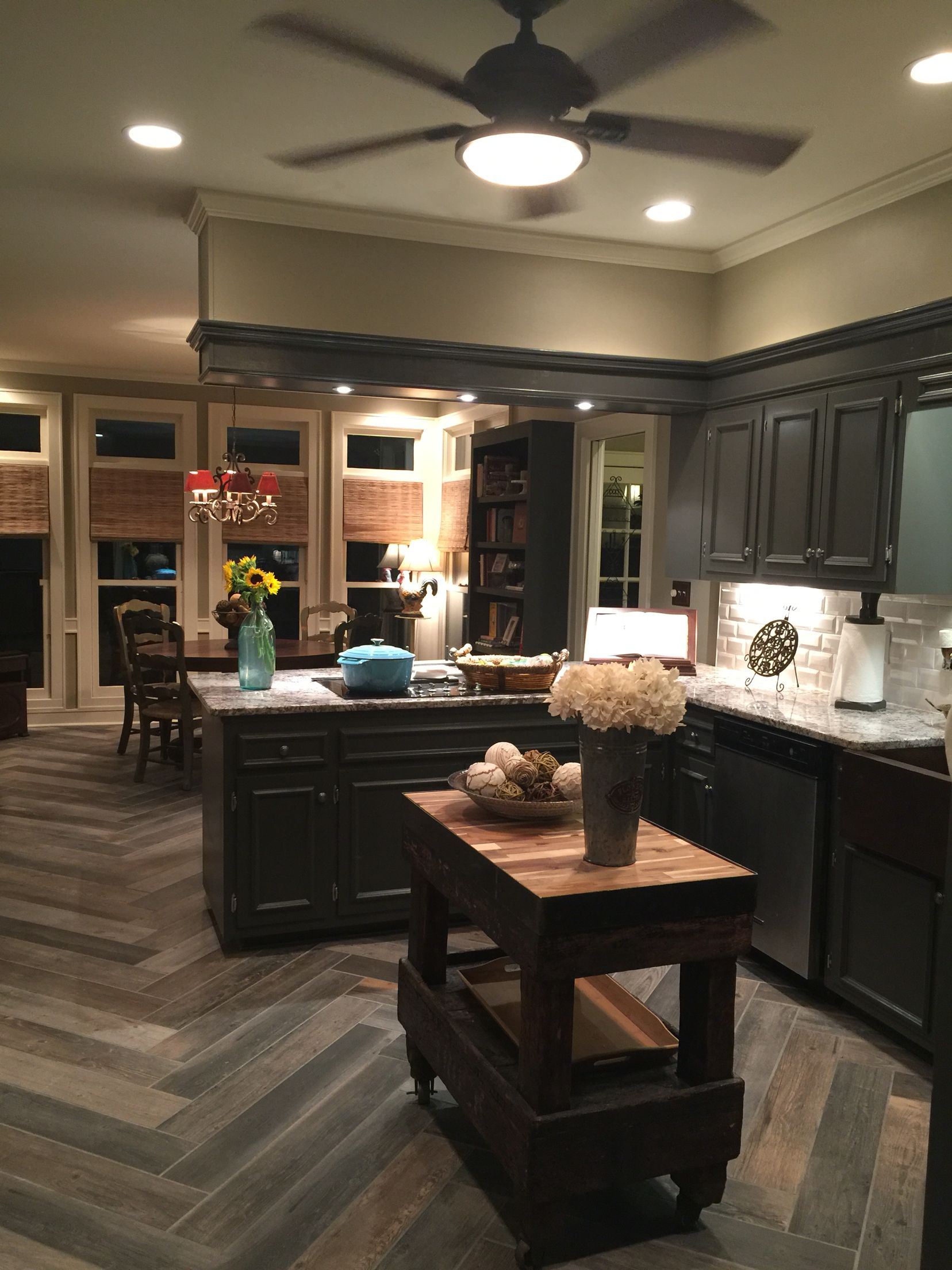My Farmhouse Funky Kitchen Bianco Antico Granite Sw Urbane Bronze Painted Kitchen Cabinets