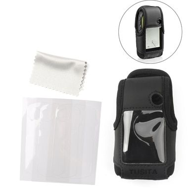Carrying Belt Clip Case Cover + Screen Protector For Garmin