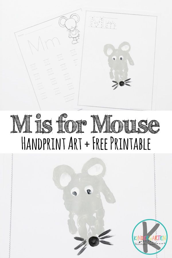 Free Letter M Worksheets M Is For Mouse Hand Art Craft For Kids In