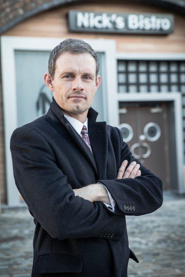 Nick Tilsley poses on Coronation Street