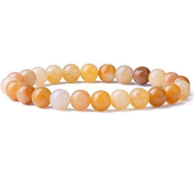 Multicolor yellow topaz agate Solar Plexus Chakra bracelets