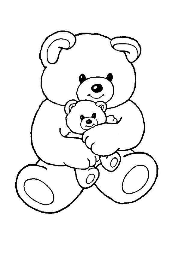 Teddy Bears Coloring Page 9 Wallpaper Teddy Bear Coloring Pages