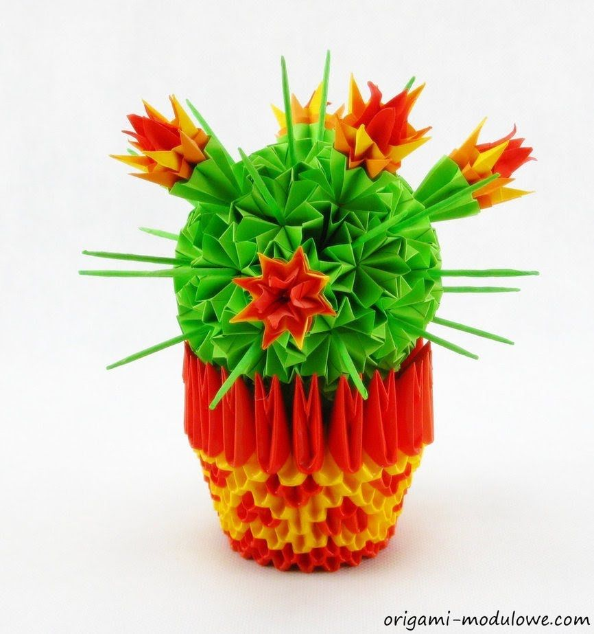 How To Make 3d Origami Cactus Origami