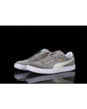 reputable site e44bf a016c Puma Classic Suede Sneakers Gray White - Puma Shoes   Puma ...