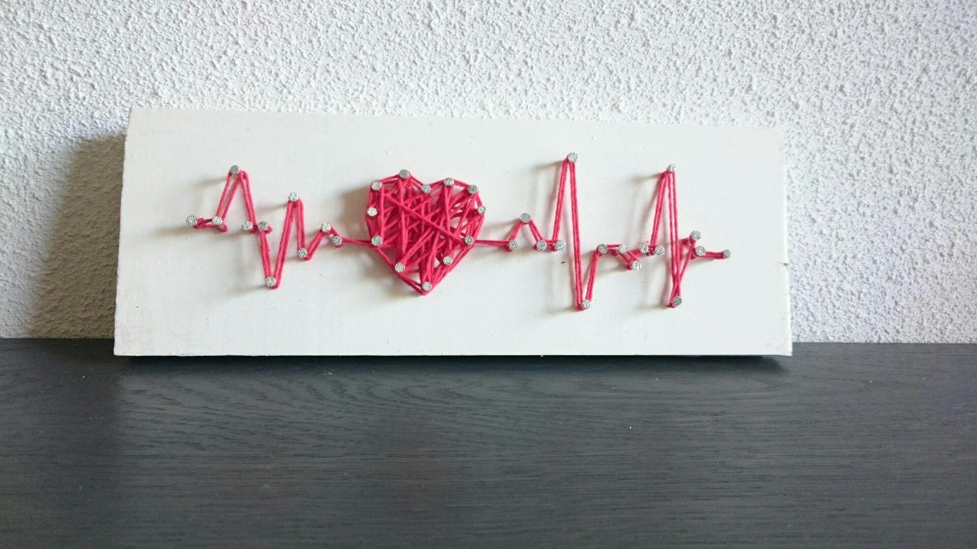 Hartslag string-art selfmade