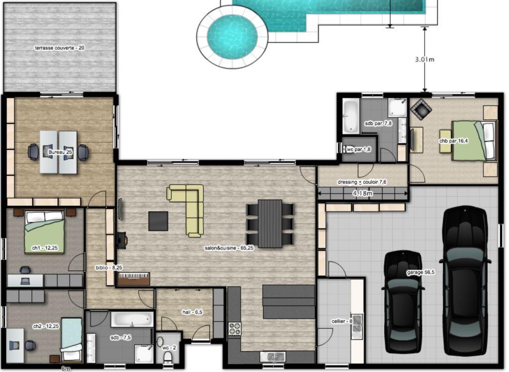 Idée de plan 2 Plans de maison de rêve Pinterest - idee de plan de maison