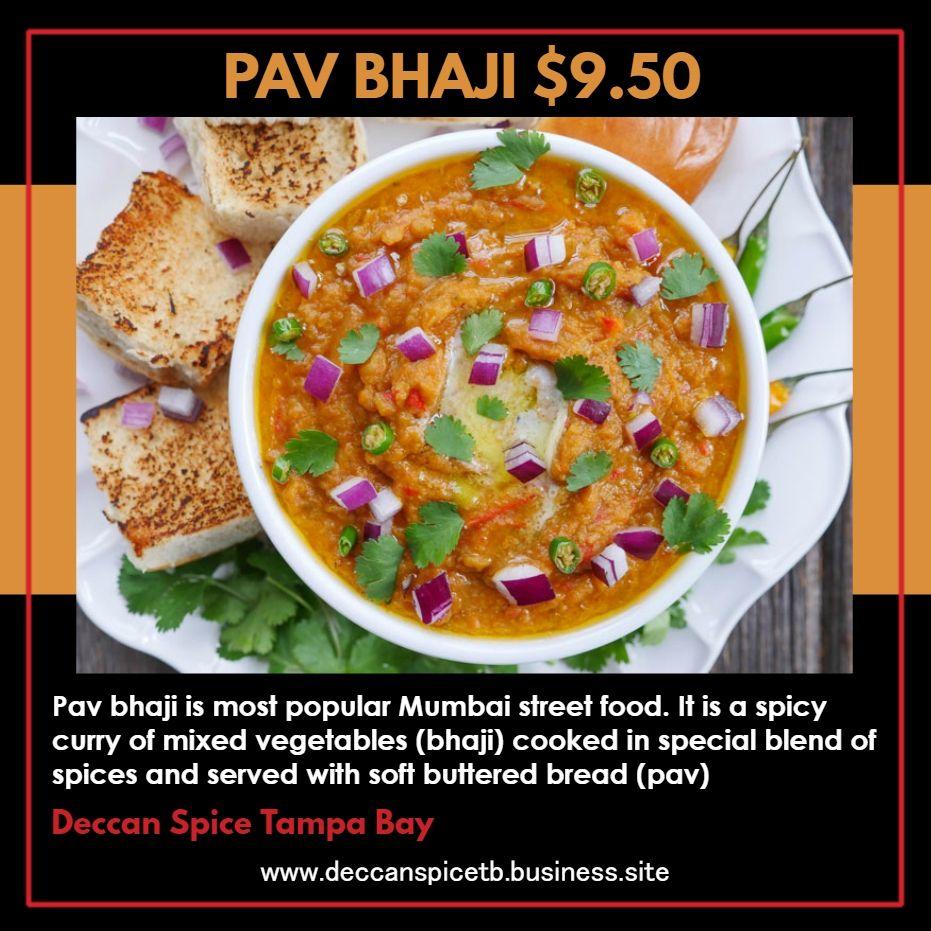 Pav Bhaji 9 50 Pav Bhaji Is Most Popular Mumbai Street Food It Is A Spicy Curry Of Mixed Vegetables Bhaji Coo Veg Restaurant Veg Dishes Mumbai Street Food