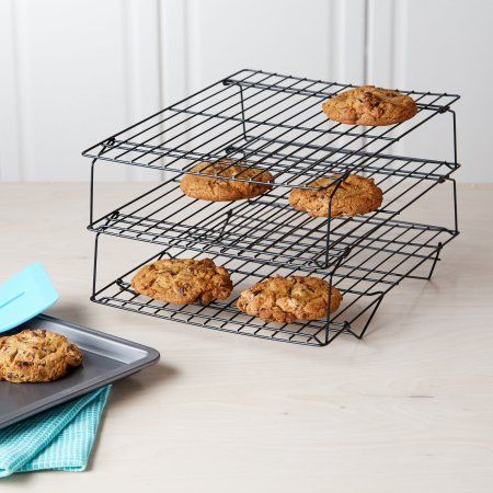 Tasty 3 Tier Cookie Non Stick Cooling Rack Walmart Com Dish